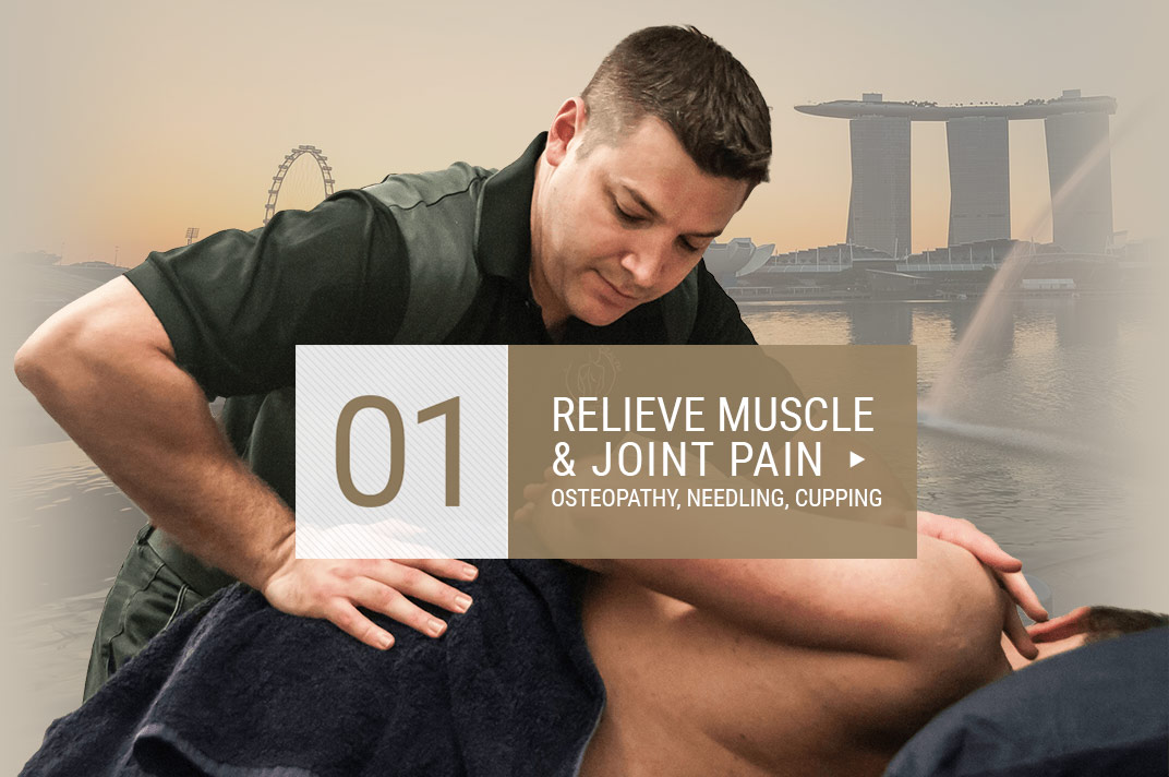Dr Jon Marshall Relieve Muscle and Joint Pain Osteopathy Dry Needling Cupping Back In Health Singapore City Novena